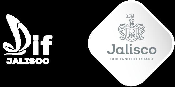 Logos de DIF Jalisco y del Gobierno del Estado de Jalisco