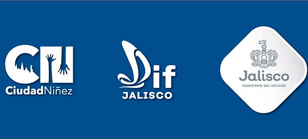 Logos del DIF Jalisco, el Gobierno del Estado y Ciudad Niñez