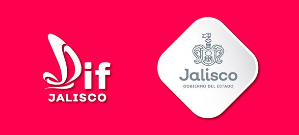 Logos del DIF Jalisco y el Gobierno del Estado