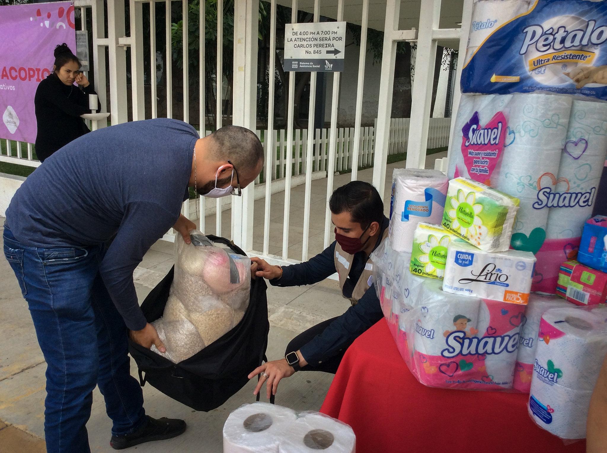 Donativos en especie recibidos en Centro de Acopio