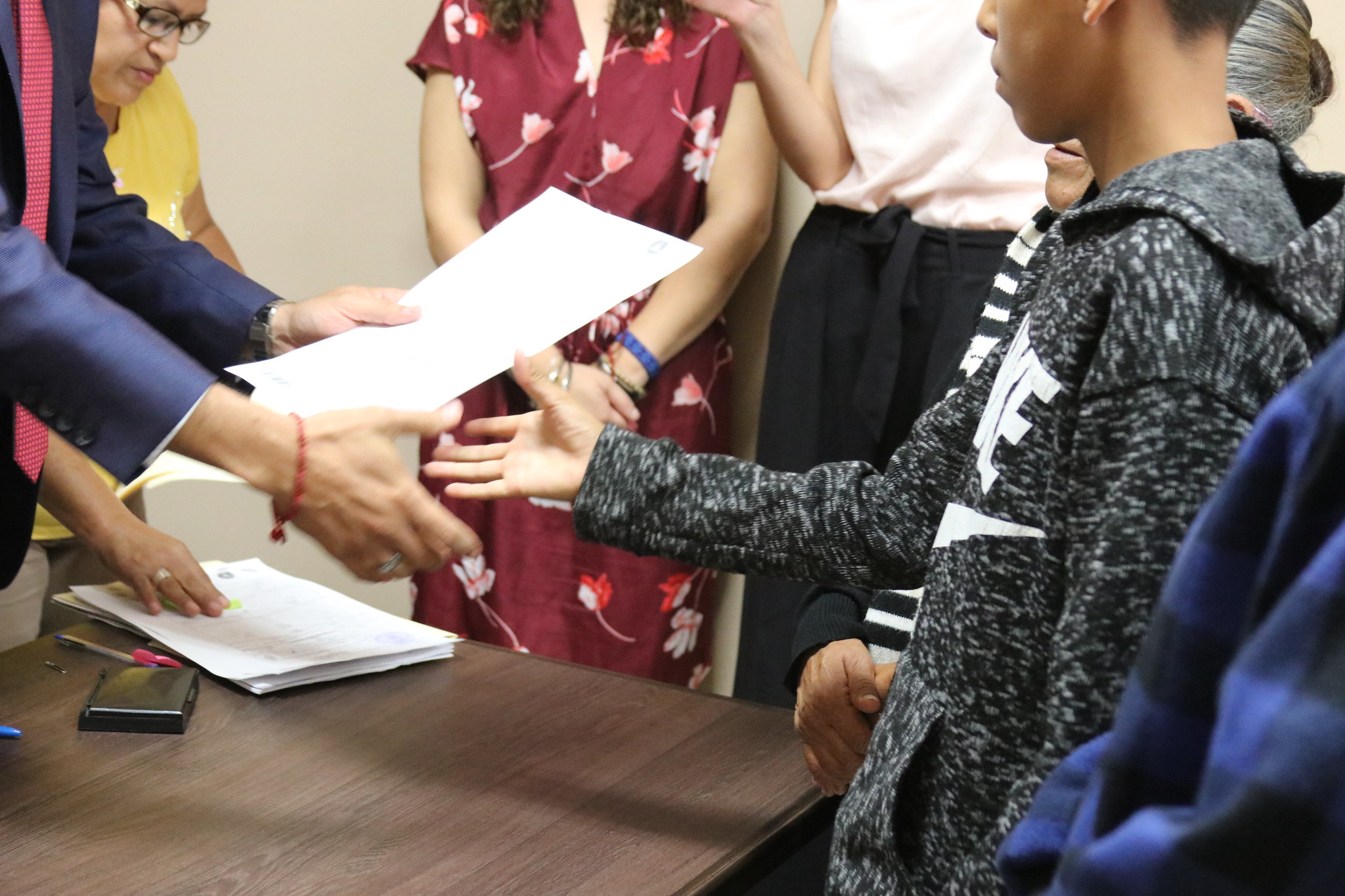 Cuatro menores de edad del municipio de Tonalá obtuvieron su registro extemporáneo de nacimiento.