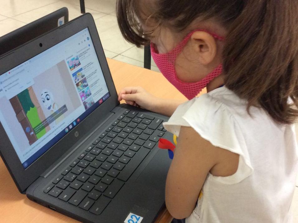 A través de Google for Education niñas y niños de CADI continuaron su aprendizaje