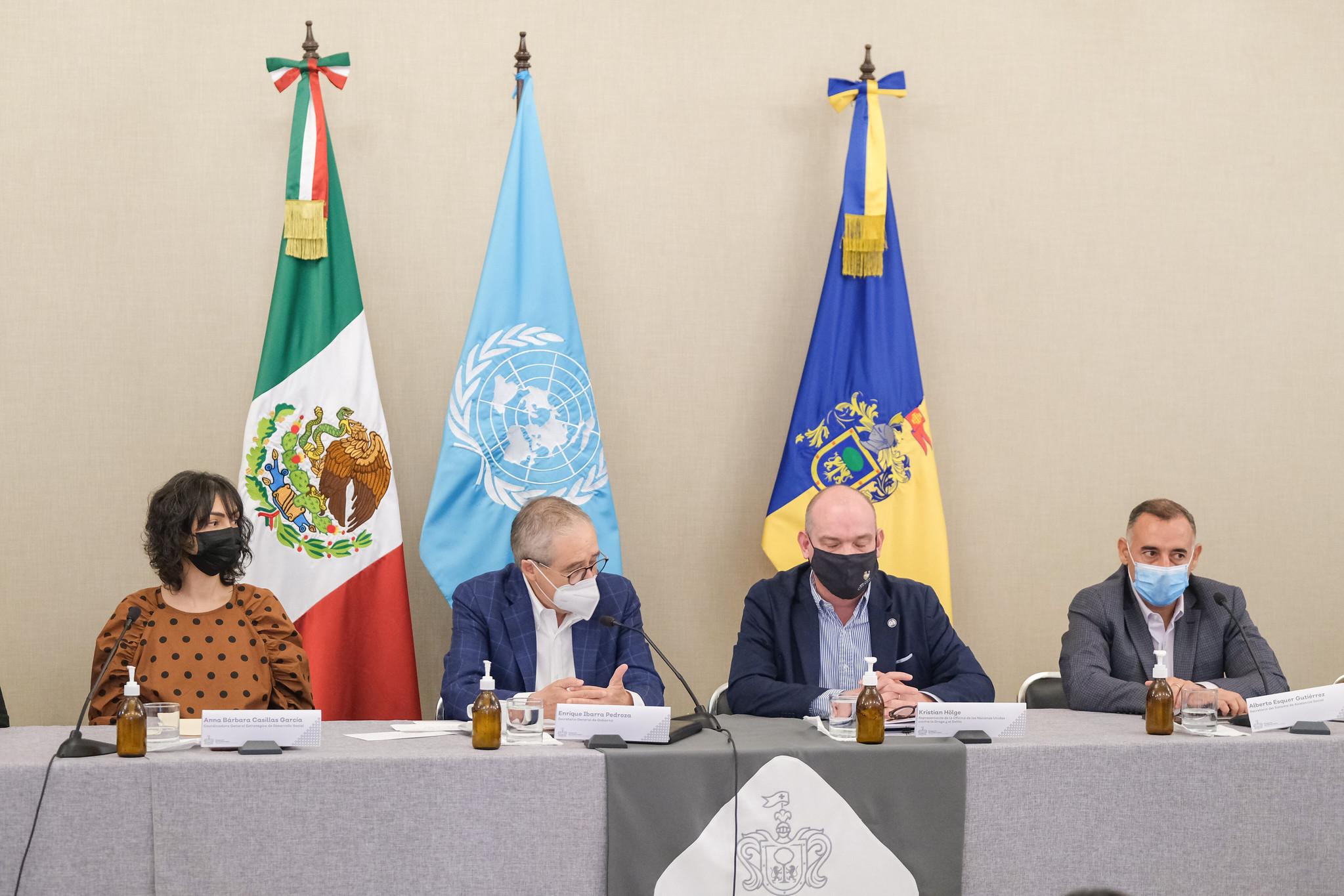 Anuncio de la implementación en Jalisco del Programa Construyendo Familias de la UNODC.